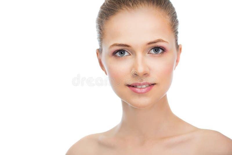Cara de una mujer joven hermosa foto de archivo libre de regalías