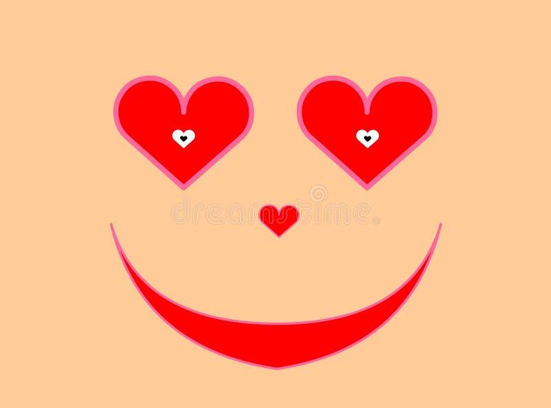 Cara del amor stock de ilustración