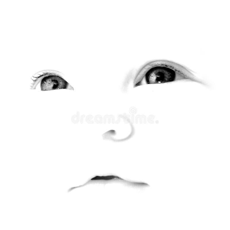 cara del bebé del Alto-clave fotos de archivo libres de regalías