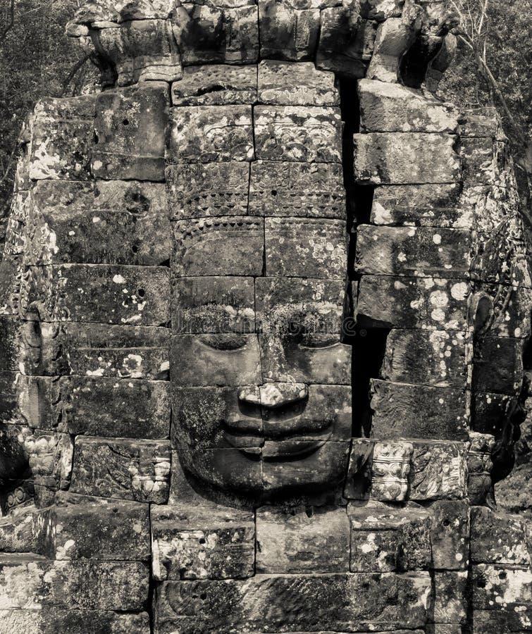 Cara del Bodhisattva Loki State Ice King en blanco y negro imágenes de archivo libres de regalías