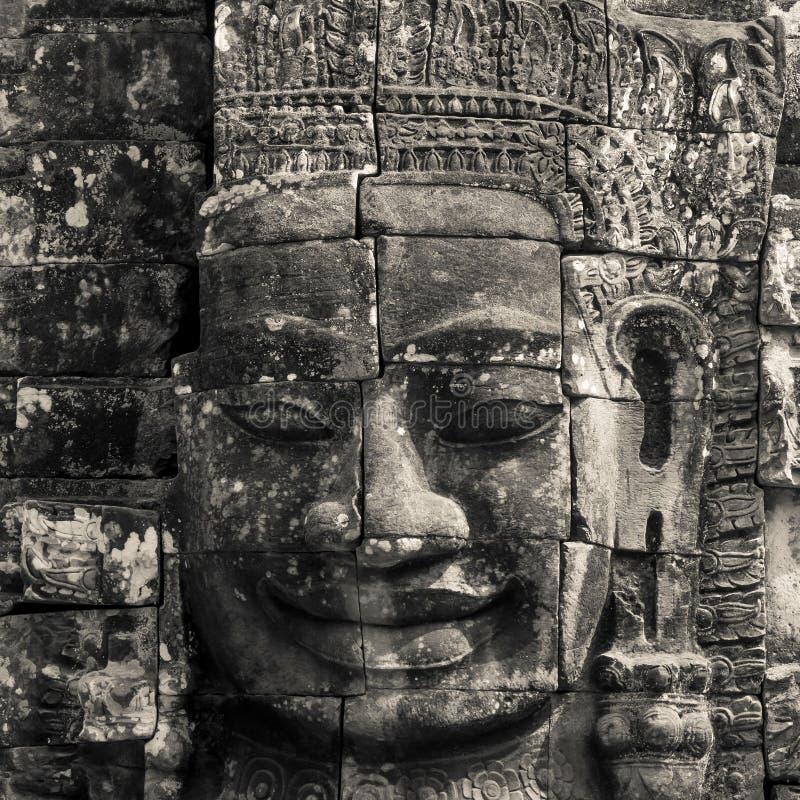Cara del Bodhisattva Loki State Ice King en blanco y negro foto de archivo