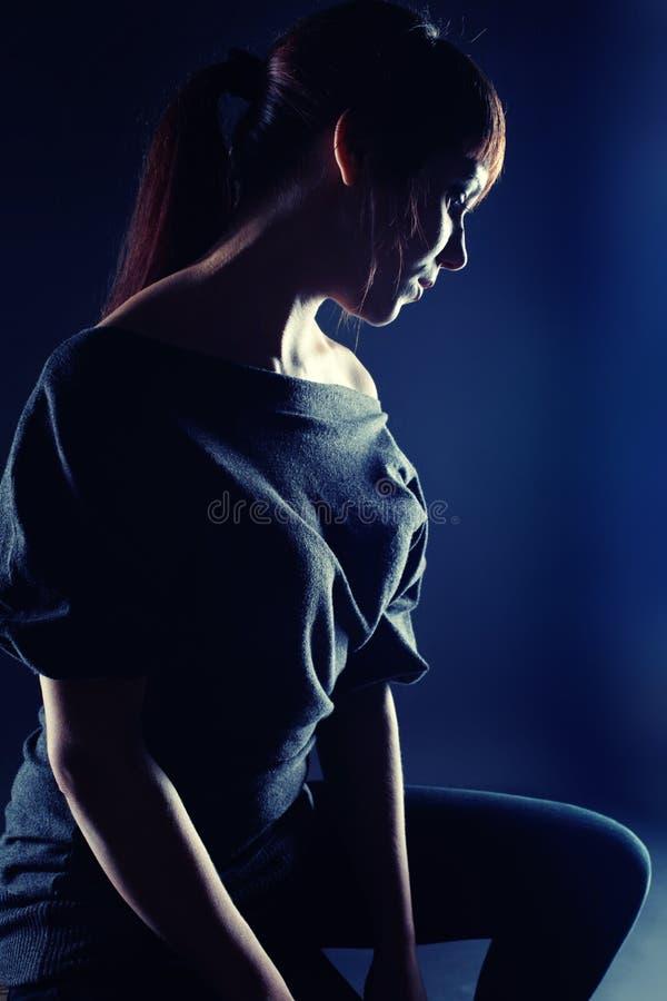 Cara del brunette hermoso joven foto de archivo