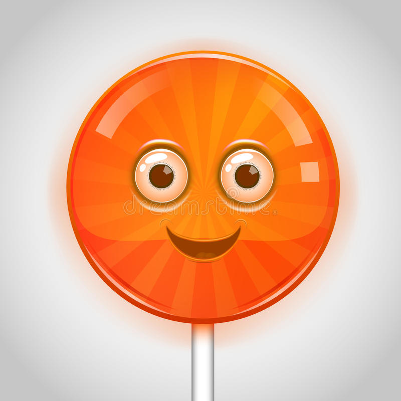 Cara del caramelo stock de ilustración