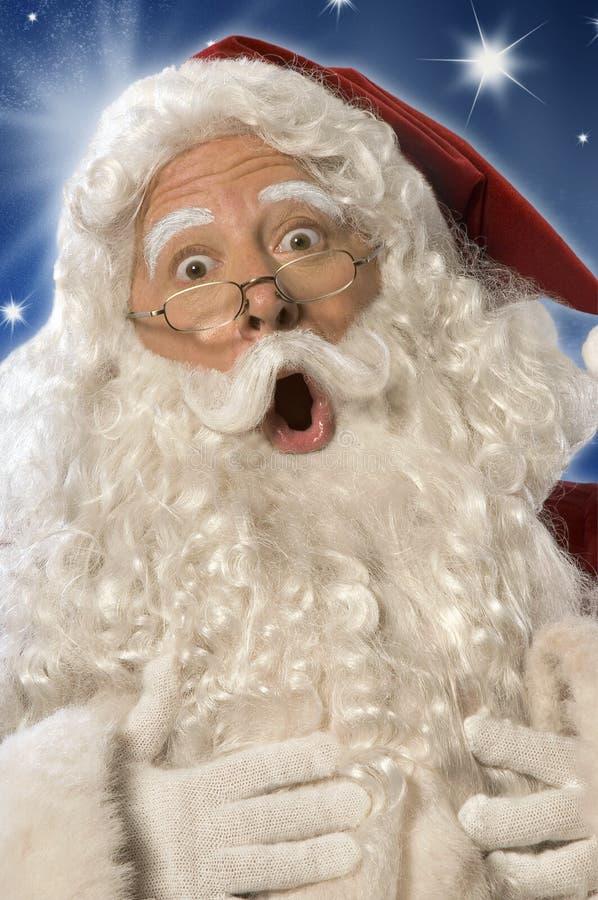 Cara del choque de Papá Noel (camino de w/clipping) imágenes de archivo libres de regalías