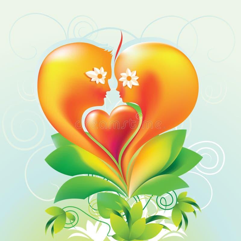 Cara del corazón ilustración del vector