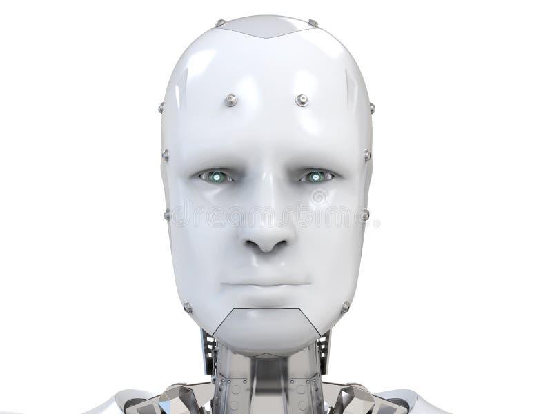 Cara del Cyborg o cara del robot libre illustration