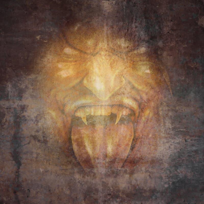 Cara del demonio stock de ilustración