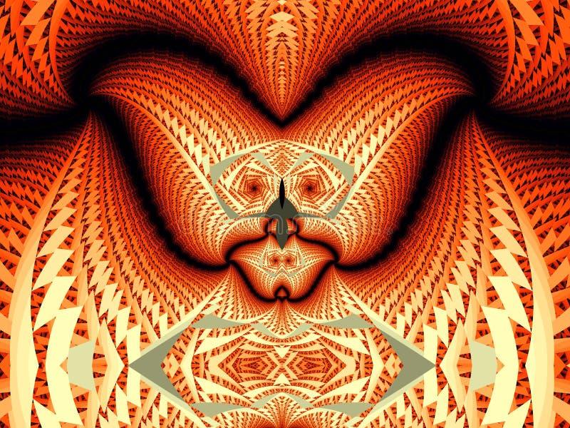 Cara del diablo del fractal ilustración del vector