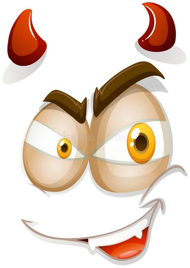 Cara del diablo en blanco libre illustration