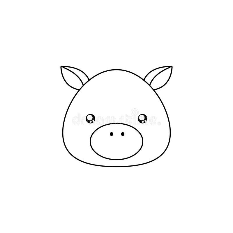 Único Cara De Cerdo Para Colorear Adorno - Dibujos Para Colorear En ...