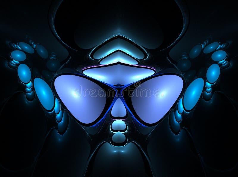 Cara del extranjero del fractal ilustración del vector