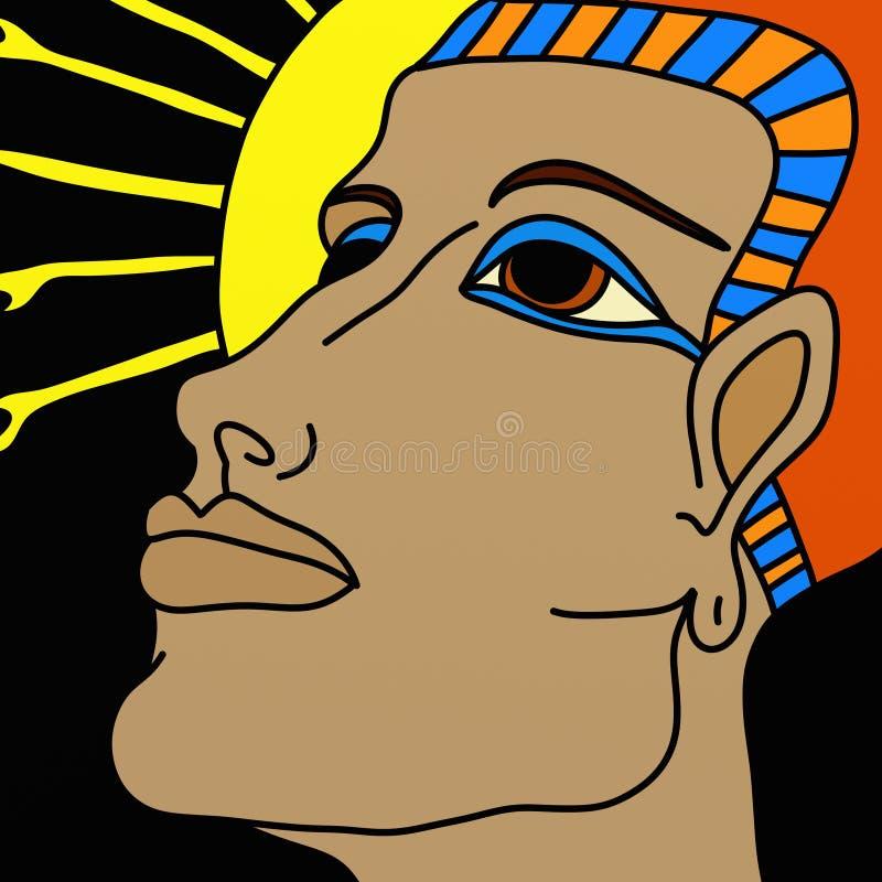 Cara del faraón ilustración del vector