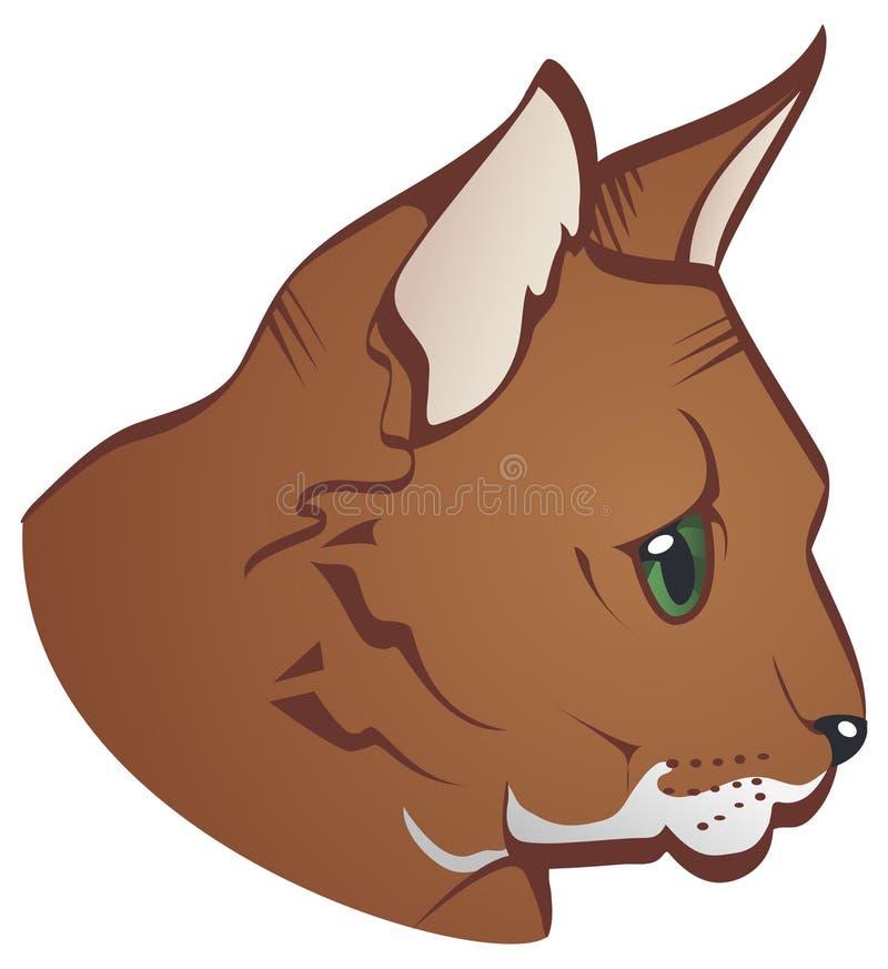 Cara del gato stock de ilustración