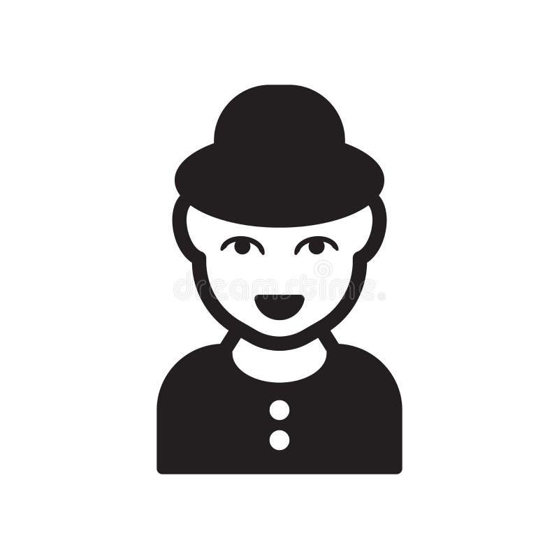 Cara del hombre con el icono del sombrero Cara de moda del hombre con concepto del logotipo del sombrero encendido libre illustration