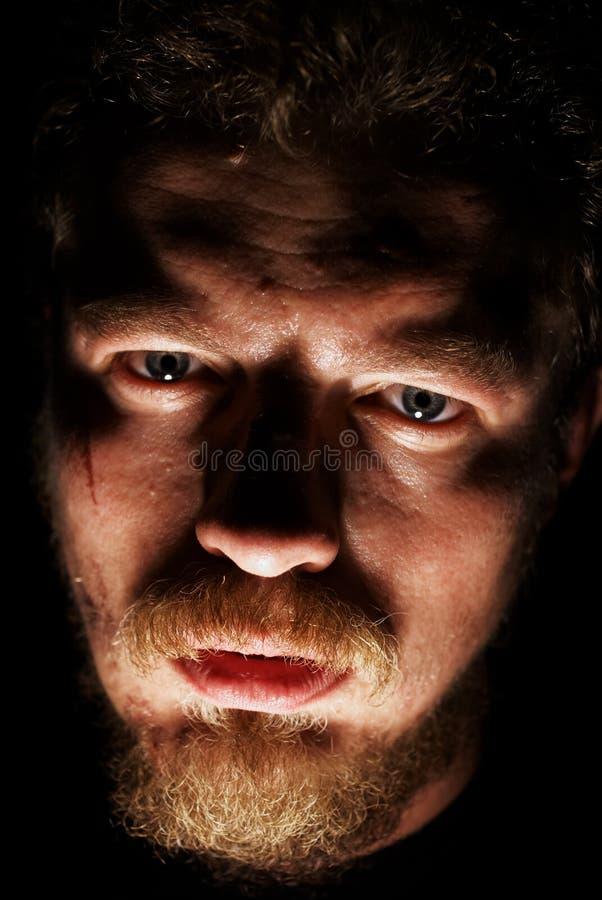 Cara del hombre con los pequeños dolores fotografía de archivo