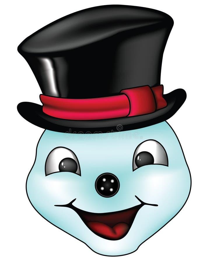Cara del hombre de la nieve fotos de archivo libres de regalías