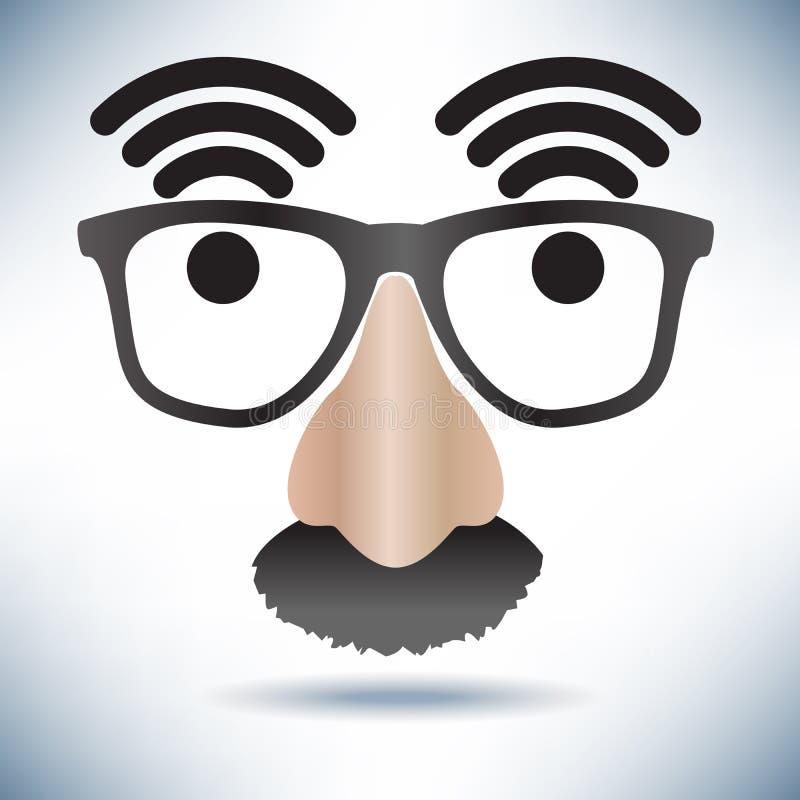 Cara del icono de la zona activa de la red ilustración del vector