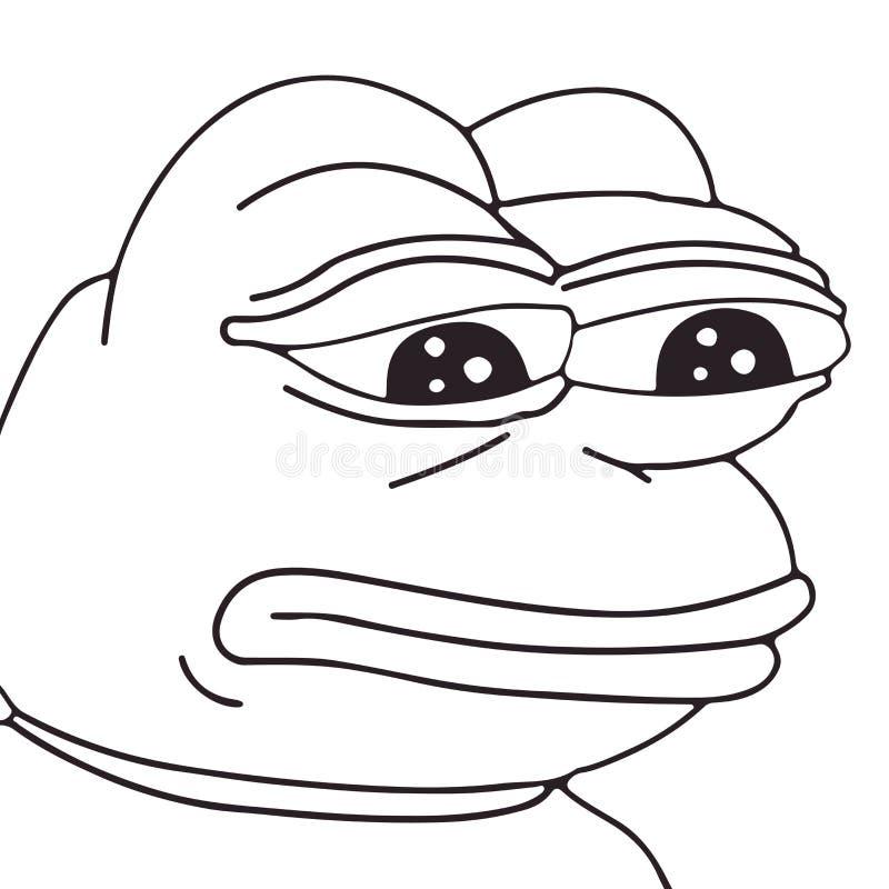 Cara del meme de la rana del vector para cualquier diseño EPS aislado 10 libre illustration