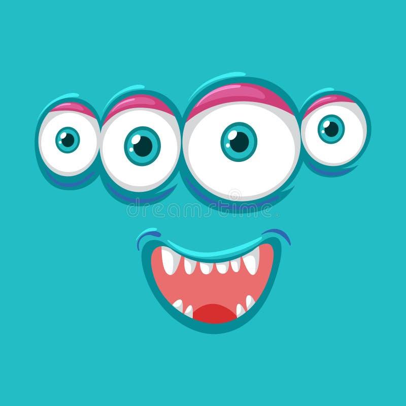 Cara del monsater de cuatro ojos libre illustration
