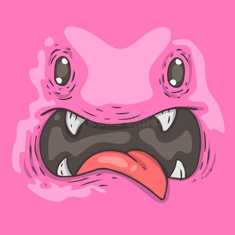 Cara del monstruo de la historieta Ilustración de Víspera de Todos los Santos libre illustration