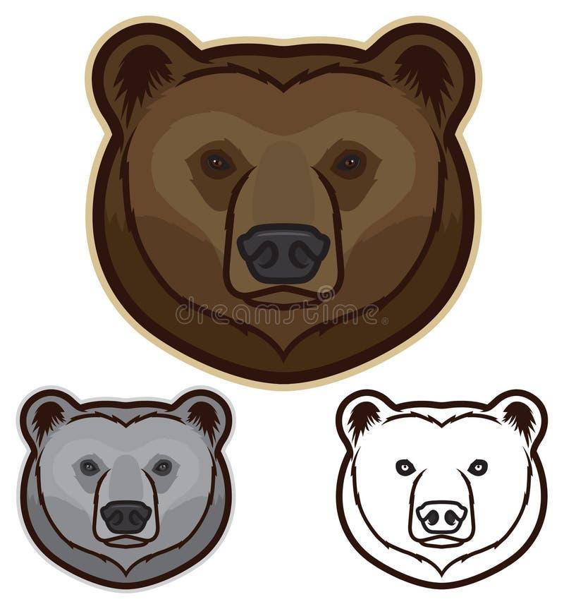 Cara del oso de Brown ilustración del vector