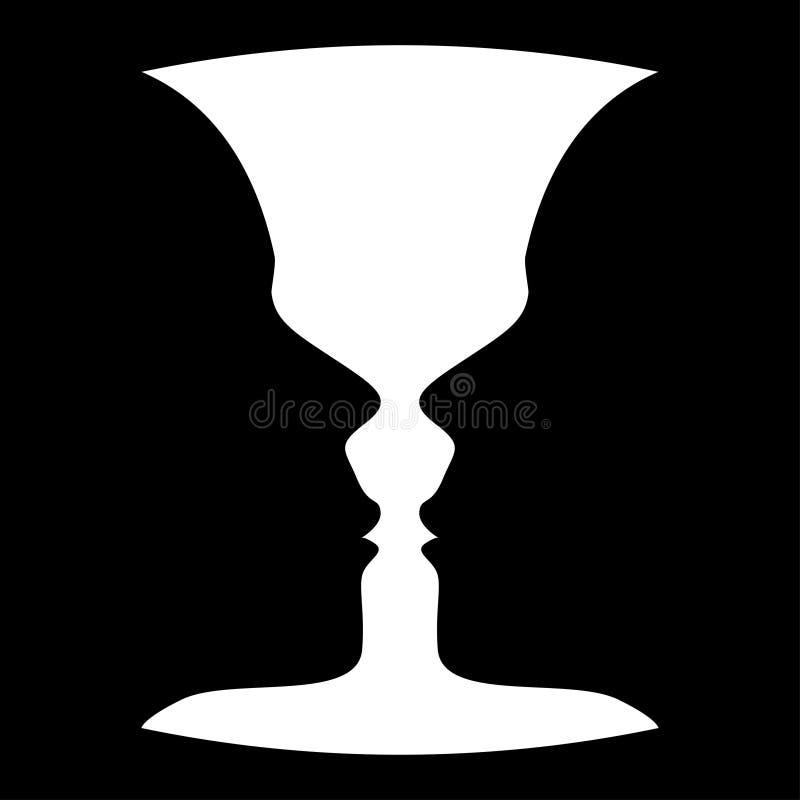 Cara del perfil de la silueta del vector ilustración del vector