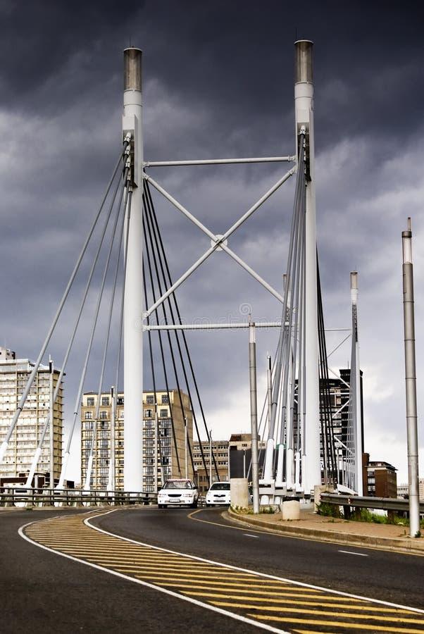 Cara del puente de Nelson Mandela en Braamfontein foto de archivo