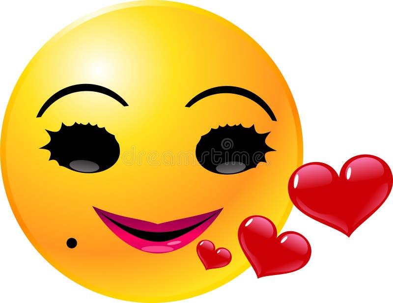 Cara Del Smiley Del Emoticon Imagenes de archivo