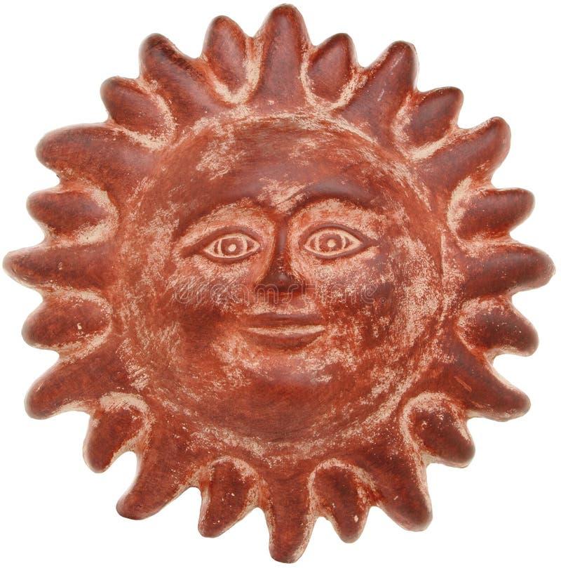 Cara del sol de la terracota imagen de archivo