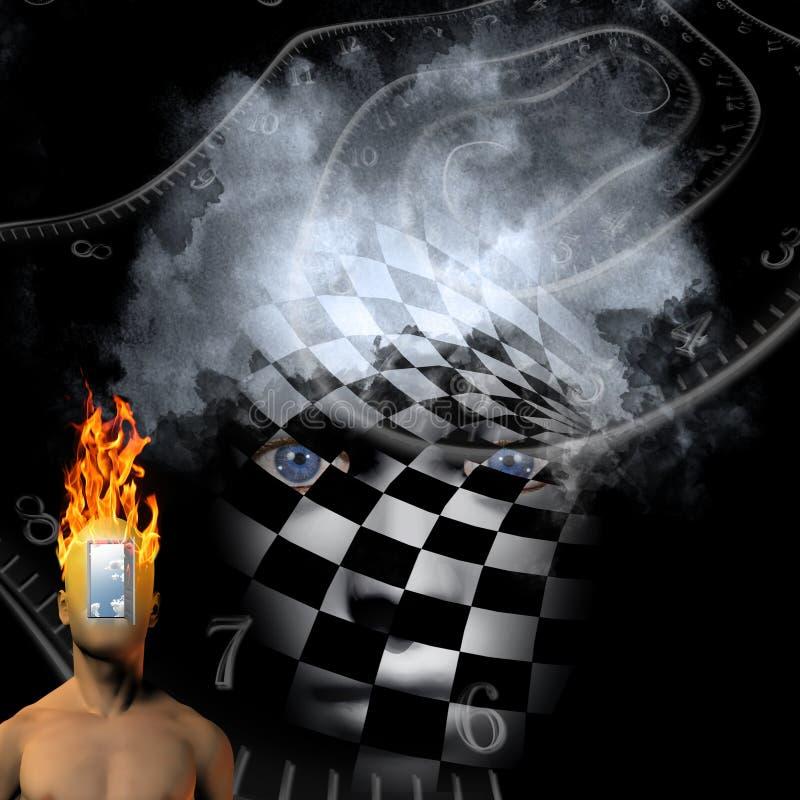 Cara del tablero de ajedrez stock de ilustración
