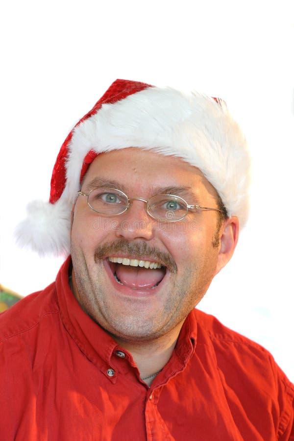 Cara divertida de la Navidad foto de archivo