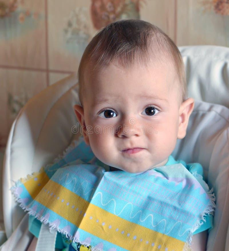 Cara do bebê agradável foto de stock royalty free