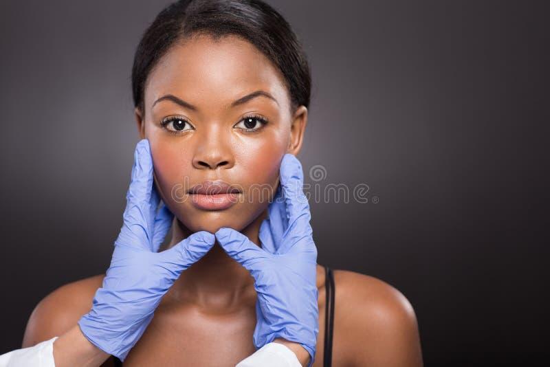 Cara do cirurgião plástico fotografia de stock royalty free