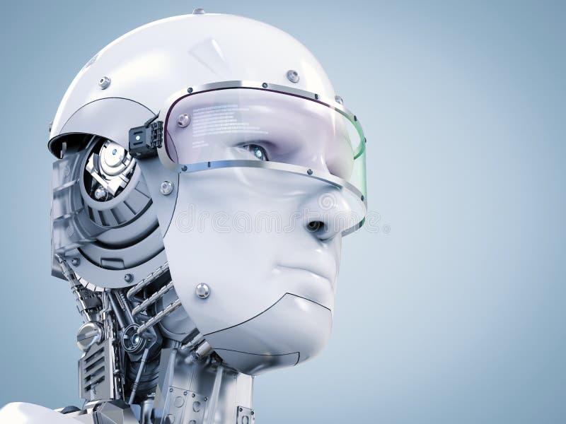 Cara do Cyborg ou cara do robô ilustração do vetor