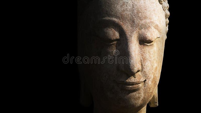 Cara do fim da Buda da estátua acima em Chiang Mai Province, Tailândia imagens de stock royalty free