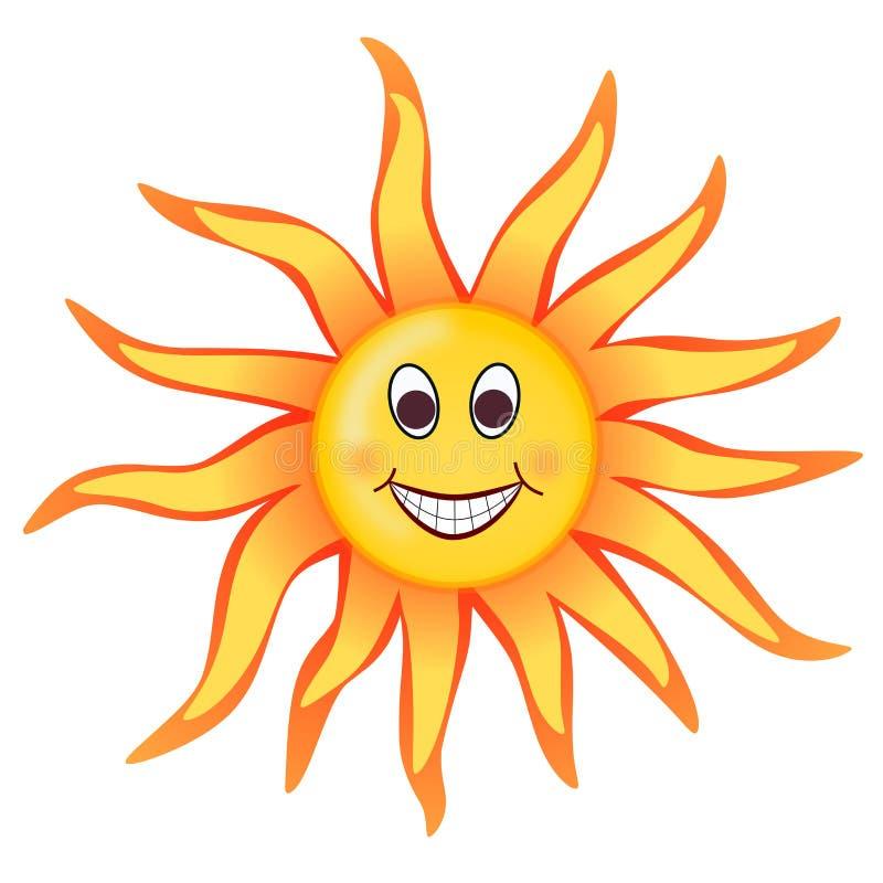 Cara do sorriso do alargamento solar de Sun ilustração royalty free