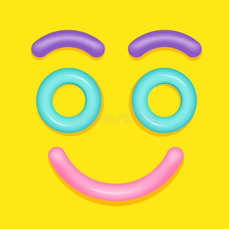 Cara do sorriso do anel da nadada do verão imagem de stock