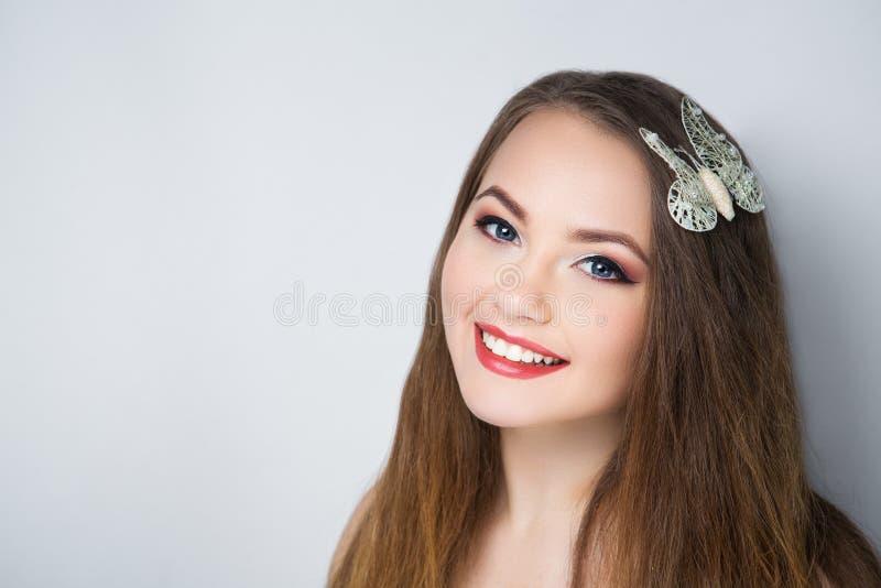 Cara do sorriso da mulher imagem de stock
