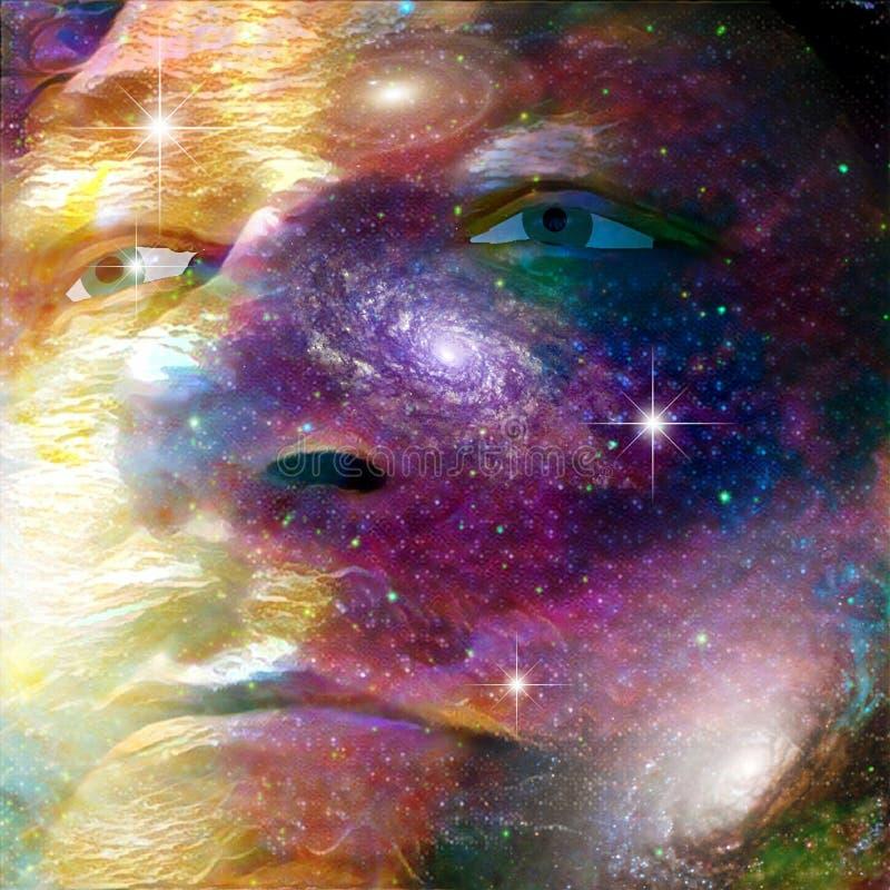 Cara do universo ilustração stock