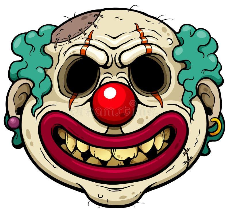 Cara do zombi ilustração royalty free