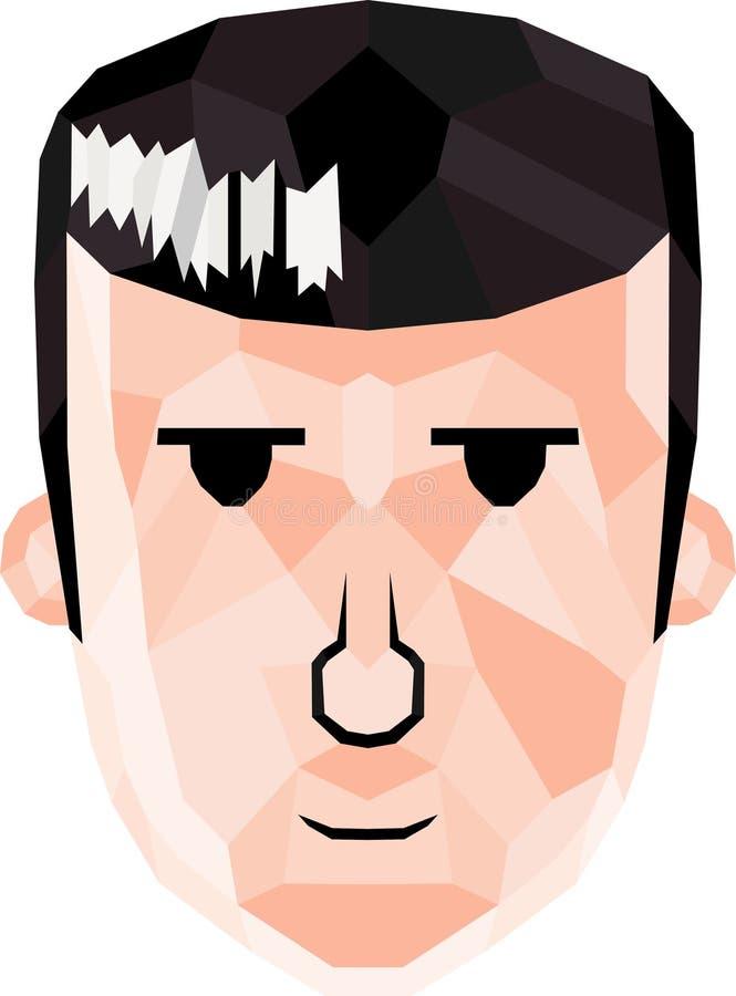 Cara dos desenhos animados imagem de stock royalty free