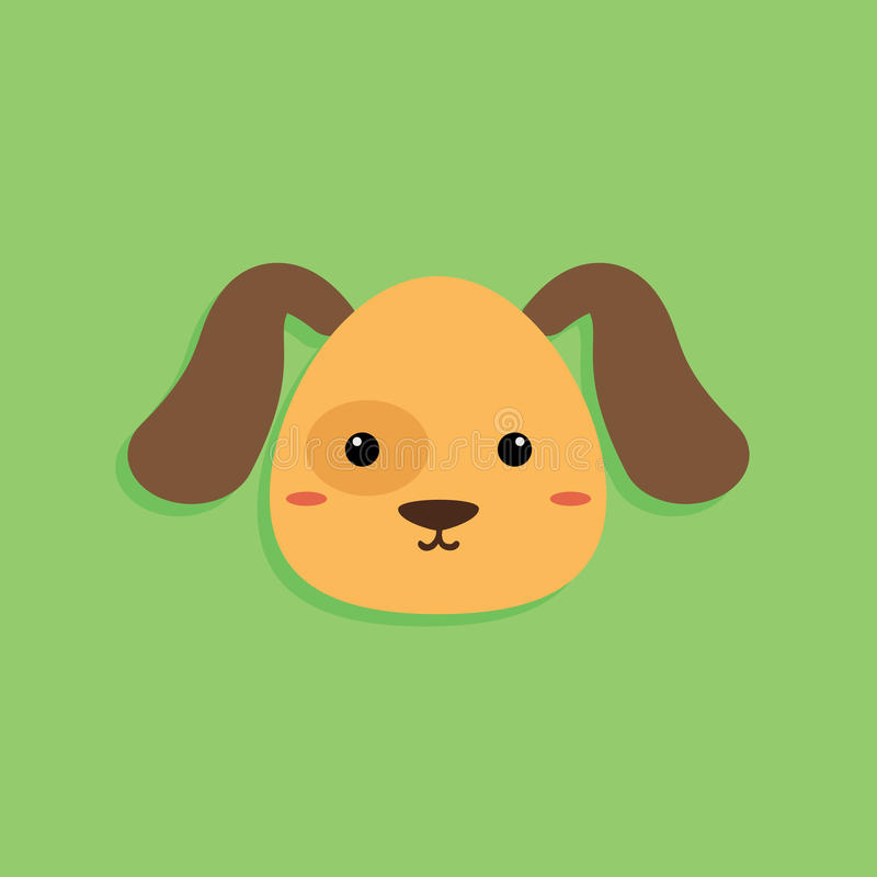 Cara dos desenhos animados do cão ilustração stock
