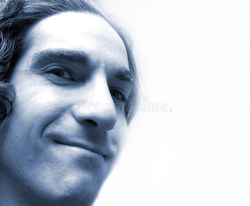 Cara en azul imagen de archivo