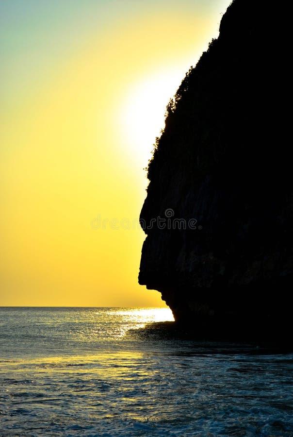 Cara en el océano foto de archivo