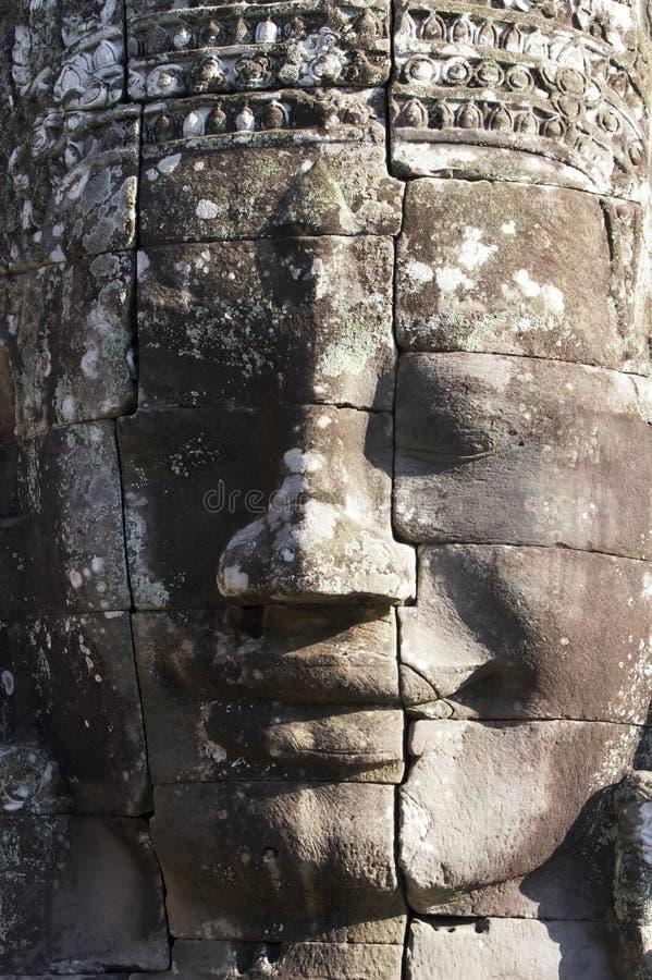 Cara en el templo de Bayon, Angkor imagen de archivo