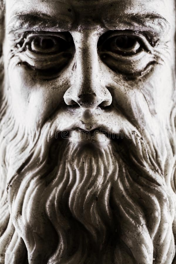 Cara entera de la opinión frontal ligera lateral fuerte de Leonardo da Vinci fotografía de archivo