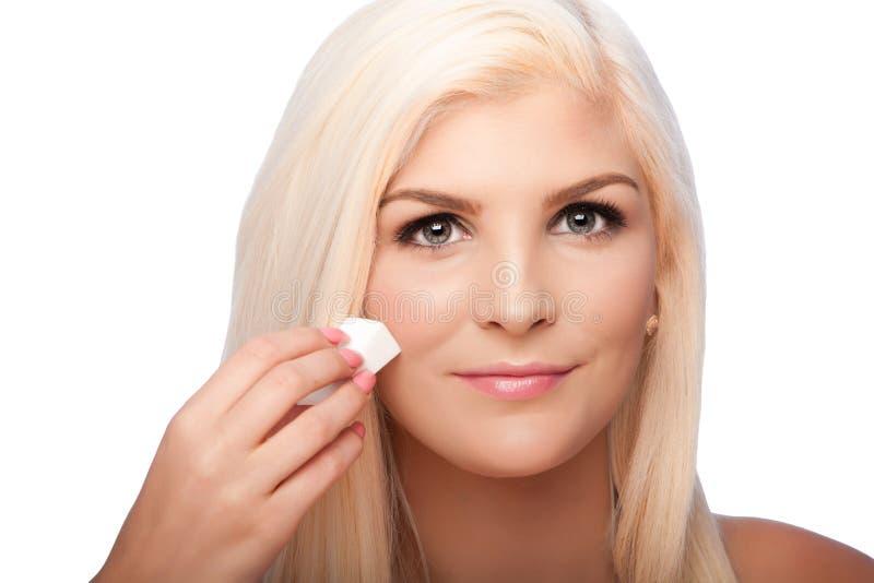 Cara facial de la mujer del concepto del skincare de la belleza imagen de archivo libre de regalías