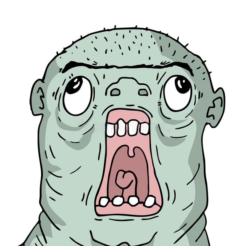 Cara feia do ogre ilustração royalty free
