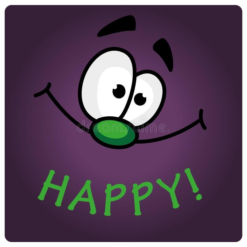 Cara feliz stock de ilustración