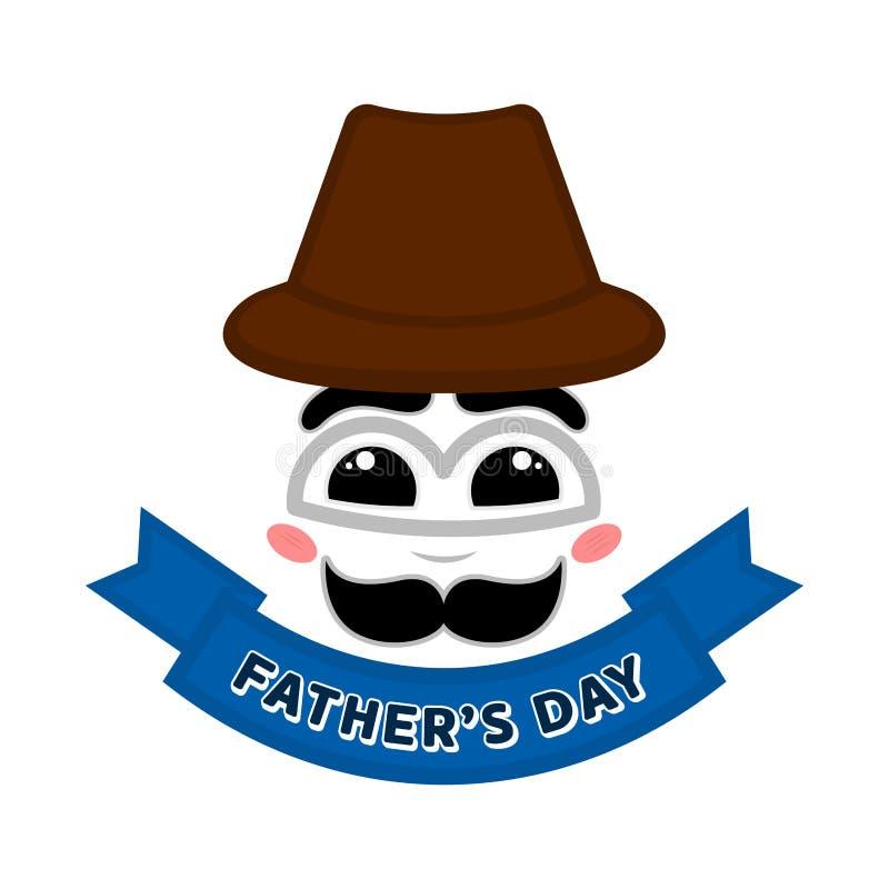 Cara feliz abstracta con una bandera Padre Day libre illustration
